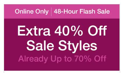 Actie: 40% EXTRA korting op sale (tot -70%) @ GAP