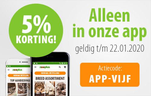 Zooplus: vandaag en morgen 5% korting in de app