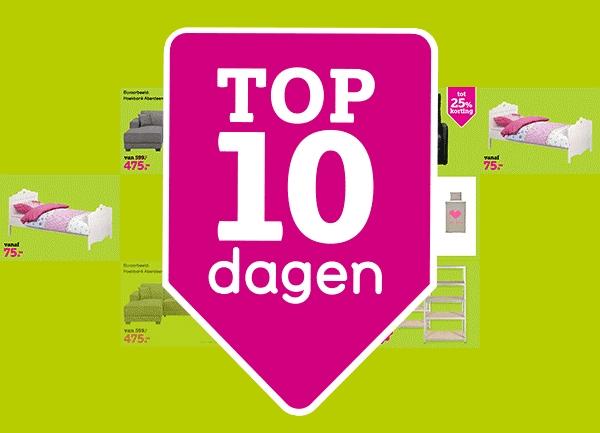 Top 10 dagen met tot 60% korting @ Leen Bakker