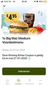 Big Mac Menu €4,95 + alle korting coupons uit de McDonald's App (week 4)