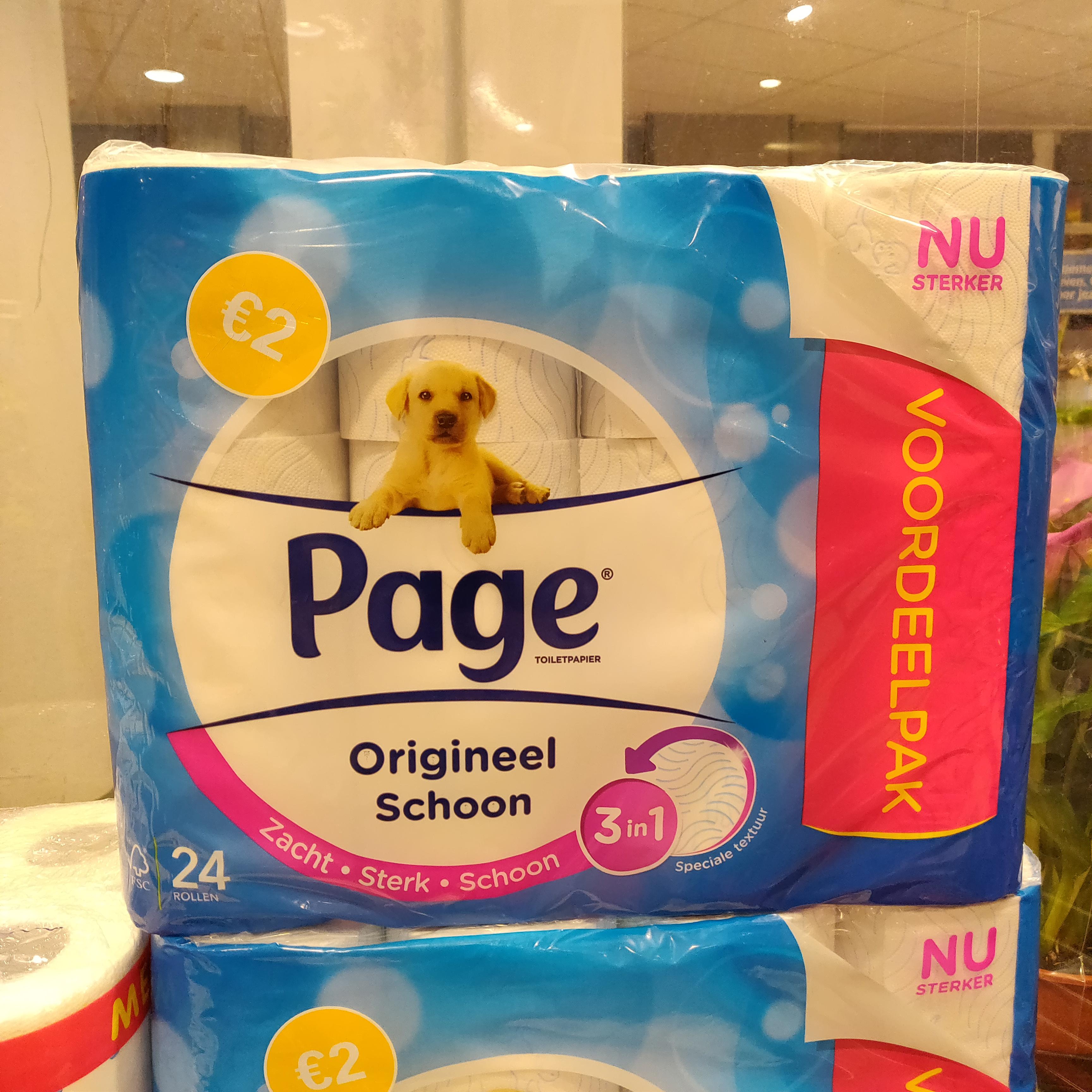 [Lokaal?] 24 rollen Page toiletpapier voor €2,- @AH