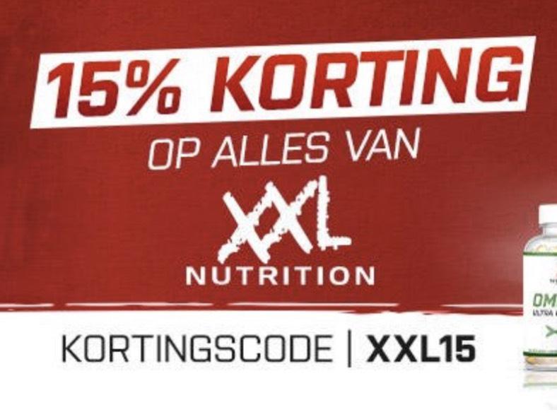 15% korting op ALLES!! van XXL Nutrition