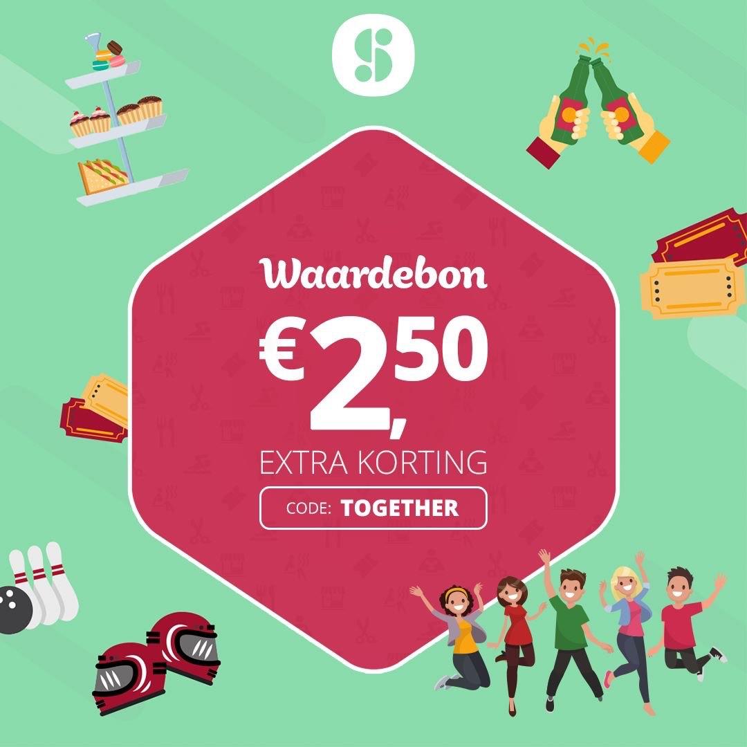 Waardebon Social Deal t.w.v €2,50