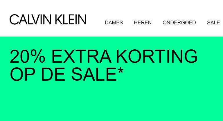 SALE -50% + 20% extra met code @ Calvin Klein