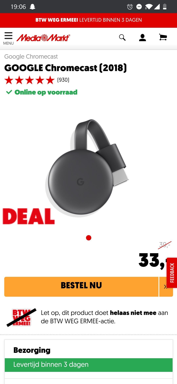 Google Chromecast 33€