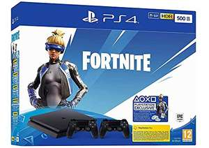 PlayStation 4 Slim 500GB + 2x Controller + Fortnite Neo Versa DLC @ Amazon.de