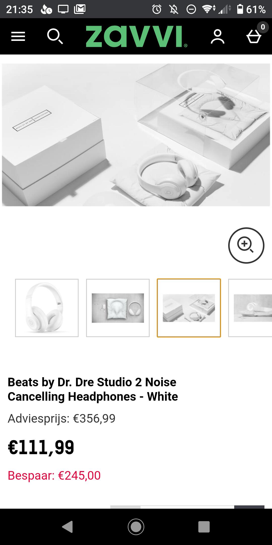 Beats by Dr. Dre Studio 2 Noise Cancelling Headphones - White