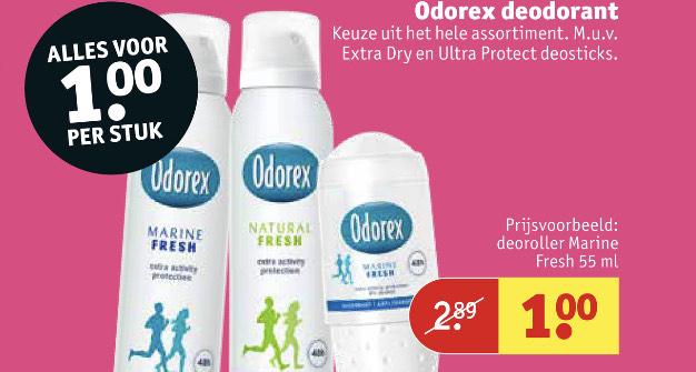 Odeorex deodorant €1 | Kruidvat
