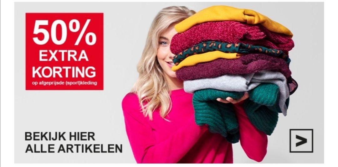 50% extra korting op kleding bovenop de sale prijs bij Scapino