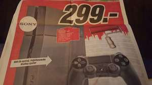 Playstation 4 (500GB) morgen voor €299 @ Heropening  Media Markt Groningen