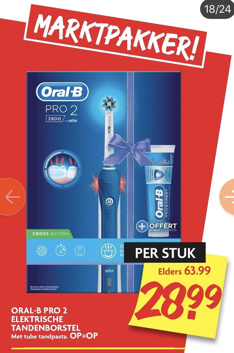 Oral-B Pro 2 2800 voor maar 28,99