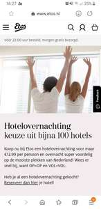 Hotel overnachting in een 3 of 4 sterrenhotel Fletcher