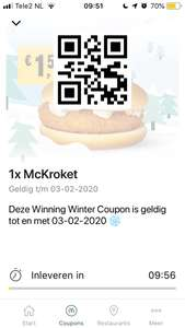 McKroket €1,50 + alle korting coupons uit de McDonald's App (week 4)