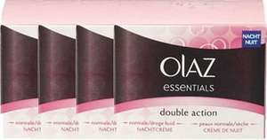 Olaz Double Action nachtcrème (4 stuks) voor €6,99 @ Bol.com