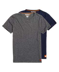 2 basic Superdry T-shirts (maat S, XL & XXL) voor €6,40 @Superdry.be