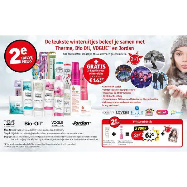 2e kaartje gratis voor een winteruitje t.w.v. 14,95 bij aankoop van deelnemende producten @ Kruidvat