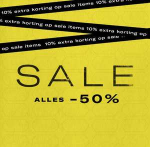 Alle sale -50% + 10% extra + 10% met code @ Scotch & Soda