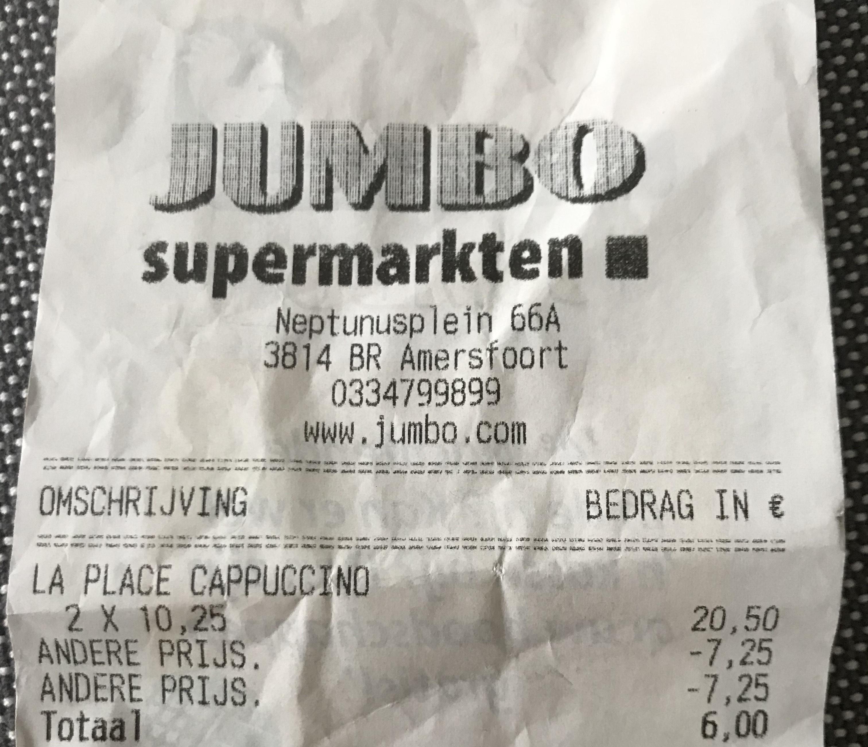 La Place koffiebonen 1kg voor €3 bij de Jumbo
