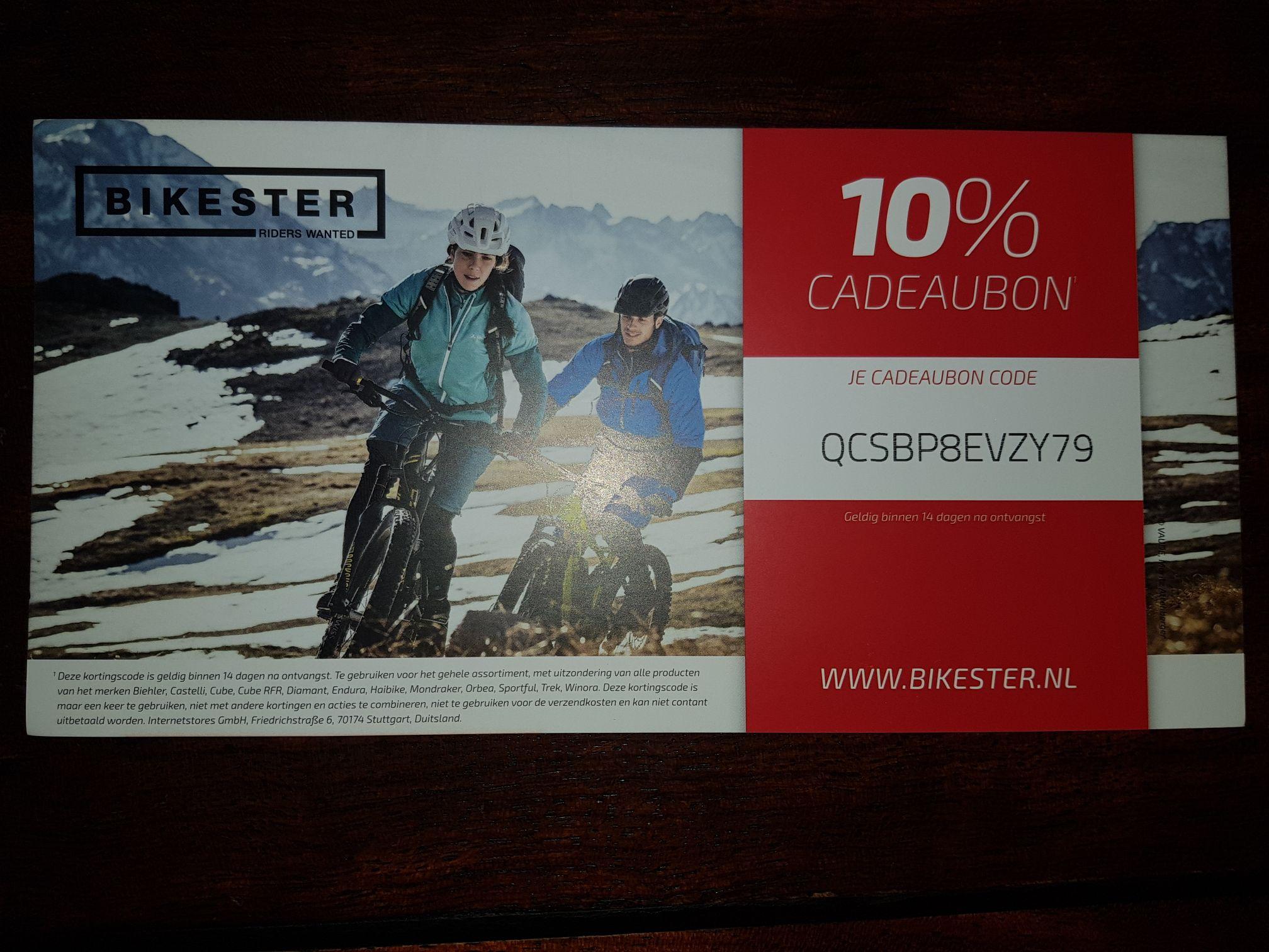 Kortingscode voor bikester.nl