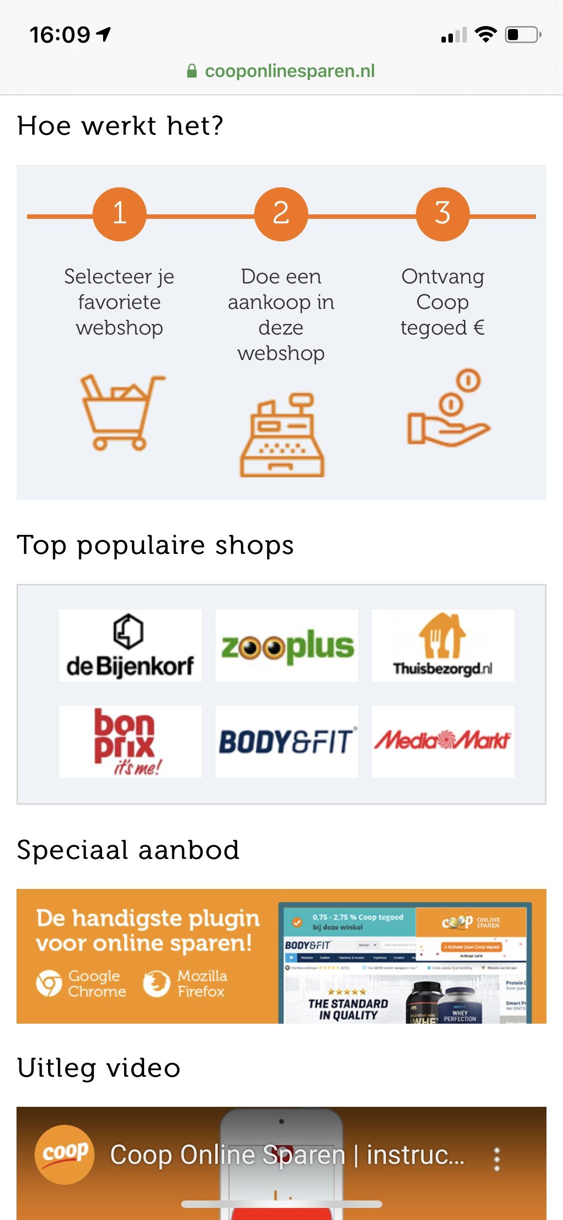Coop online sparen voor gratis boodschappen