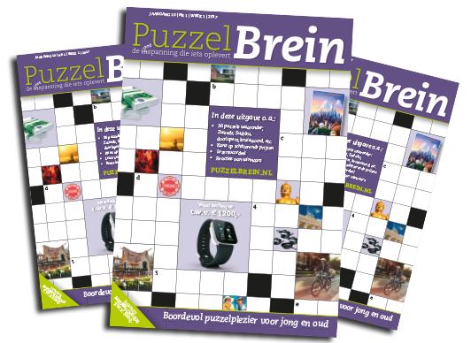 gratis promotie exemplaar van PuzzelBrein. t.w.v. € 11,90,