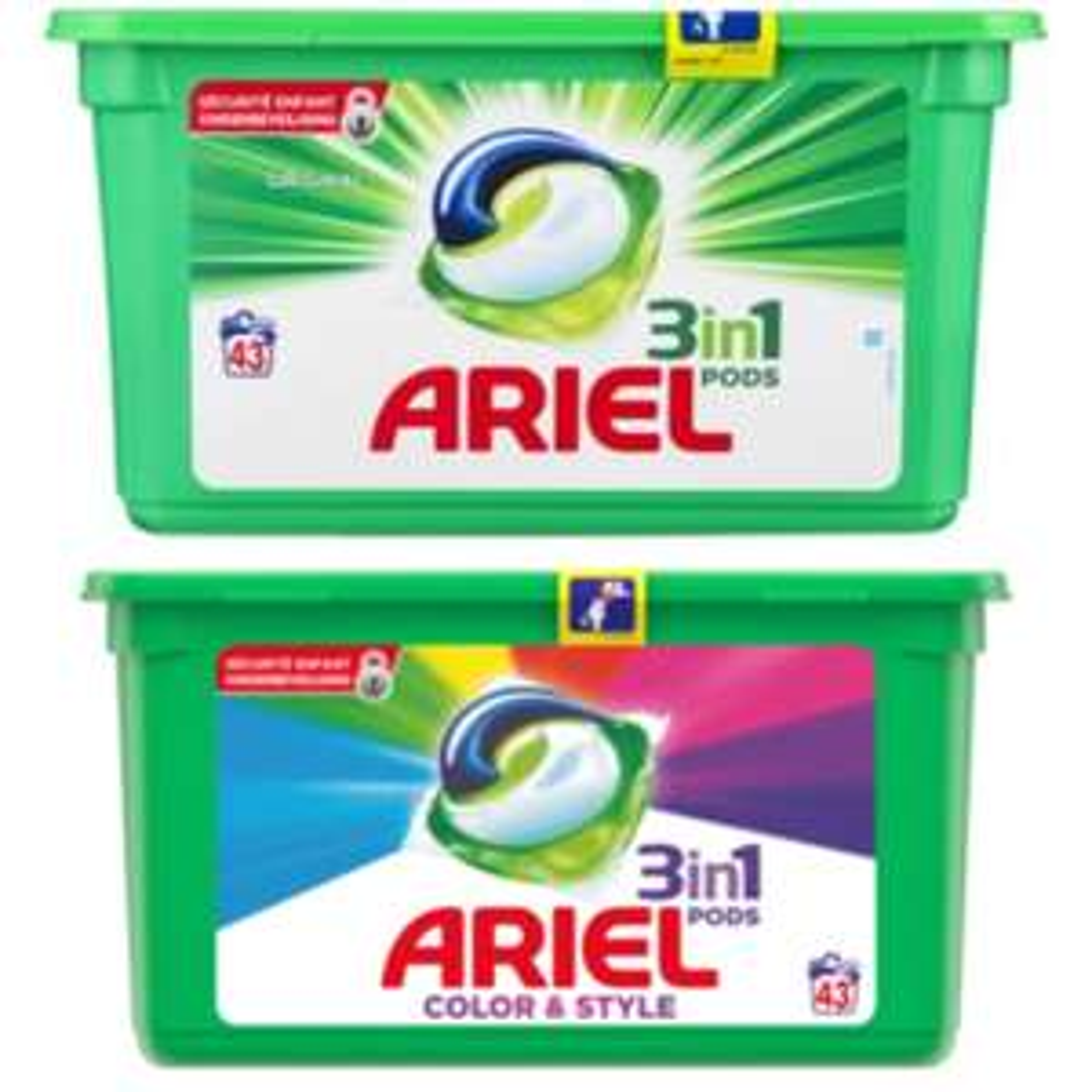 Ariel pods Classic of Color 43 stuks €6,99 || Trekpleister