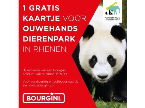 Gratis* ticket Ouwehands Dierenpark (Rhenen) bij aankoop van een Bourgini product t.w.v. minimaal € 29,99 bij Blokker