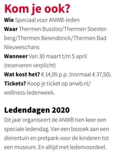 ANWB-Ledendagen: Lekker dagje sauna voor €14,95