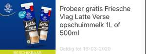 gratis Friesche Vlag Latte Verse opschuimmelk 1L of 500ml@eurosparen