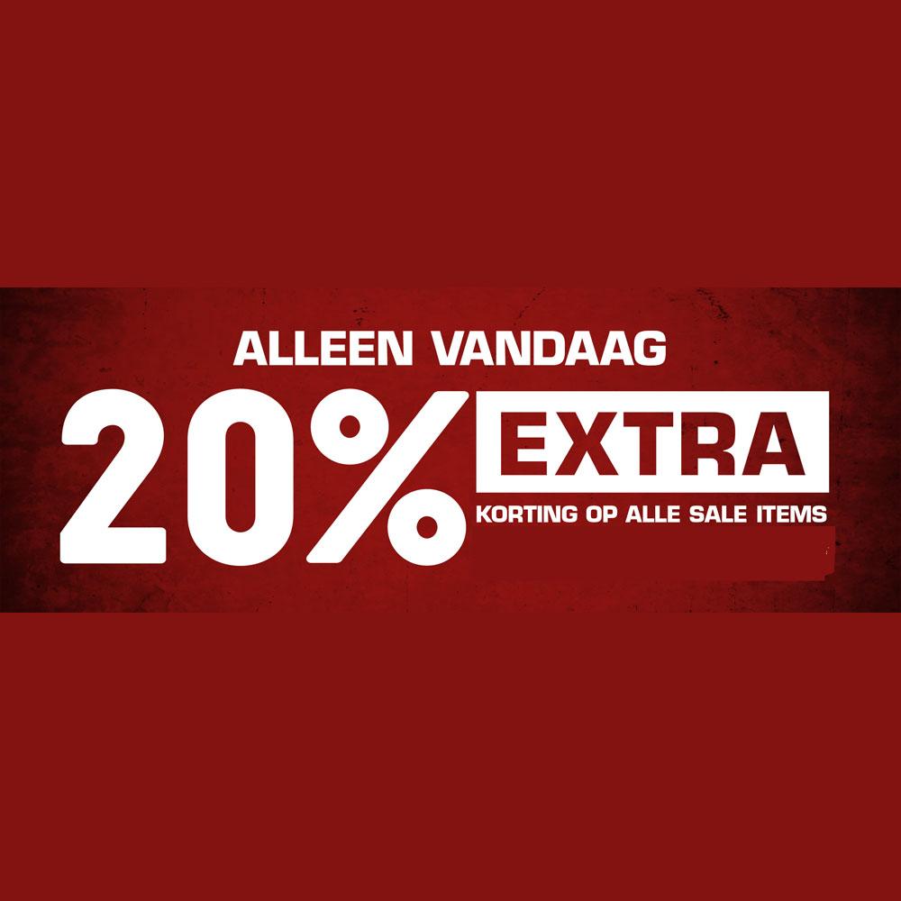 SALE: 20% EXTRA + gratis verzending t.w.v. €4,99 @ Snipes