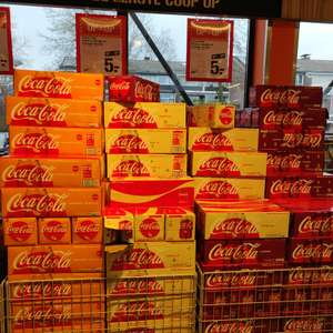 Coca-cola Cherry, Vanilla of Orange 12 blikjes voor €5,- @Supercoop