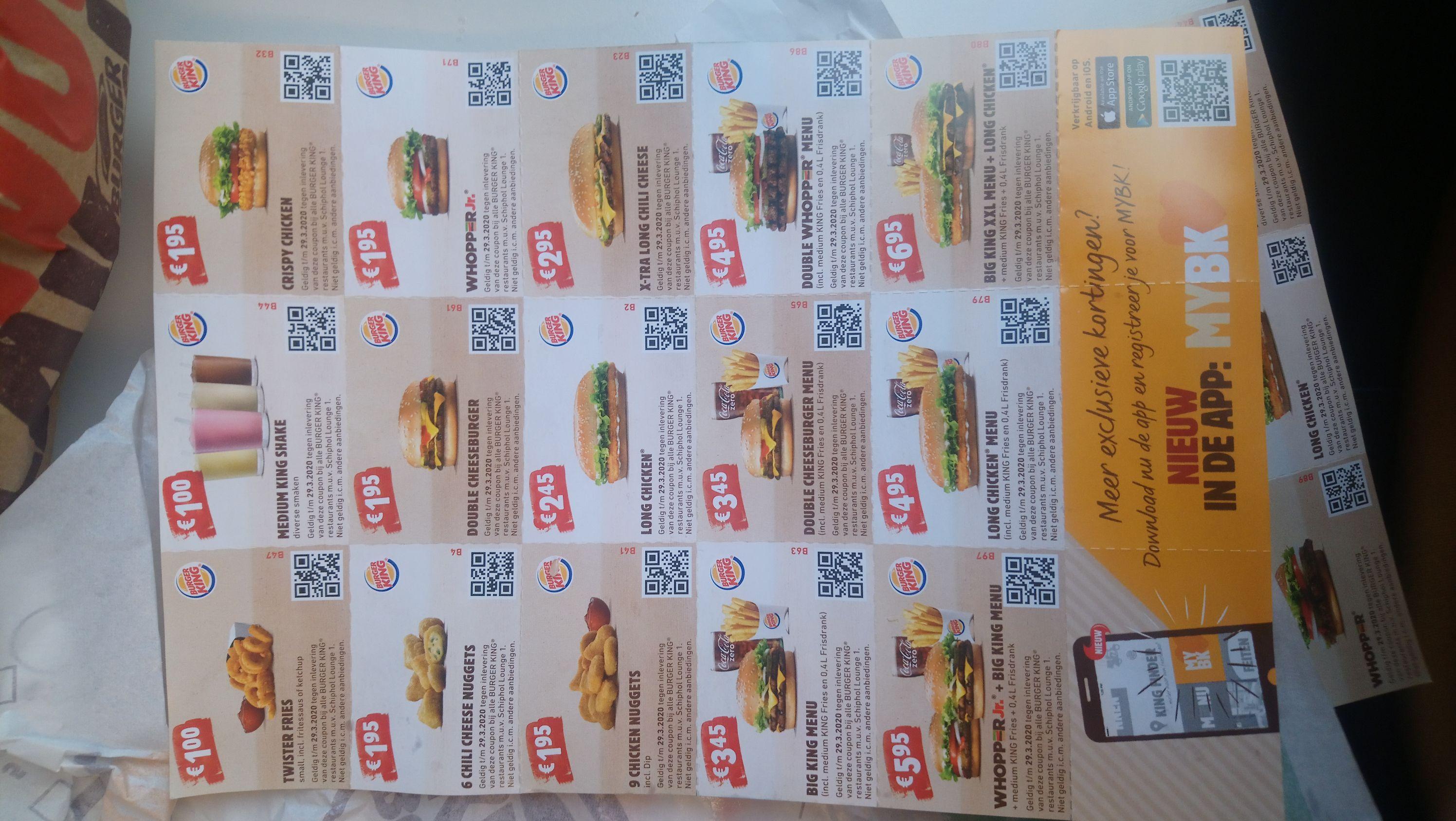Nog meer Burger King kortingen