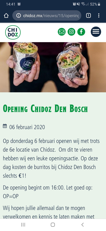 Openingsactie chidoz denbosch