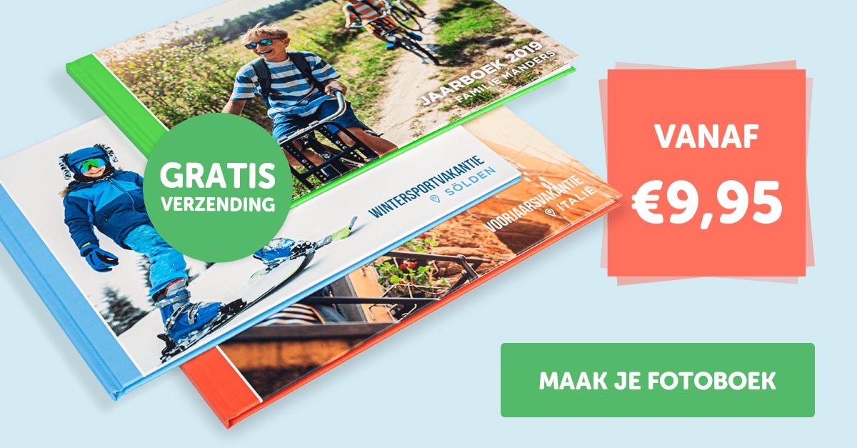 Hardcover of Vlakliggend Fotoboek tijdelijk vanaf €9,95 (normaal €22,99) + gratis verzending