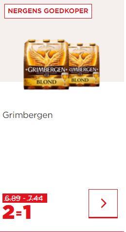 Drie soorten Grimbergen 2=1 @Plus