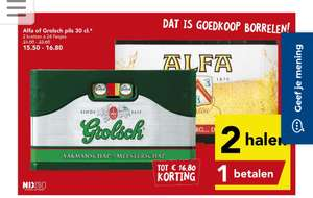 Grolsch & Alfa 2=1 bij Deen