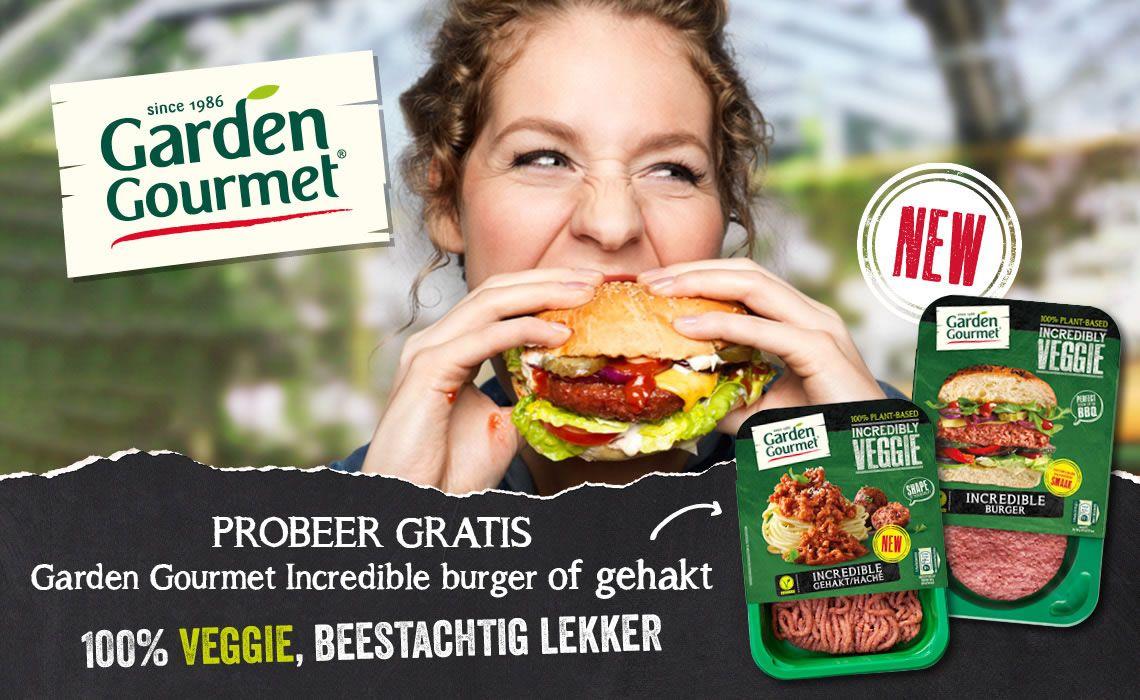 100% cashback! Probeer gratis Garden Gourmet incredible burger of gehakt