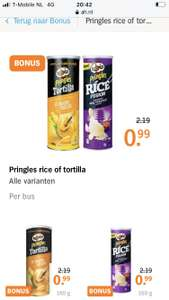 Pringles rice of tortilla €0,99 | ah