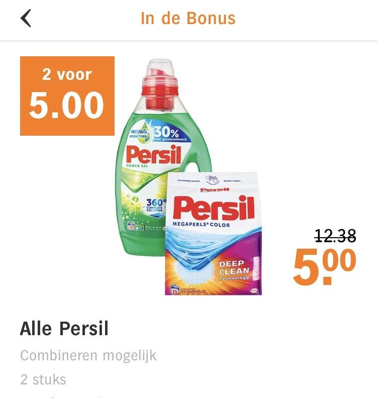 Alle persil 2 voor €5!