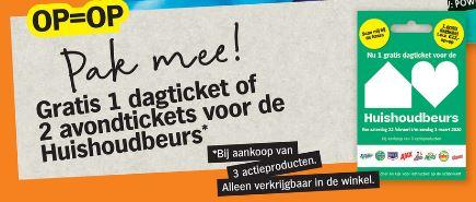 Gratis 1 dagticket of 2 avond tickets Huishoudbeurs (bij aankoop 3 actie producten) @ Albert Heijn