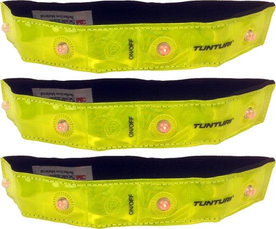 select aanbieding : Tunturi Veiligheidsband Hardloopverlichting - Led - 3 delig - Fel Geel