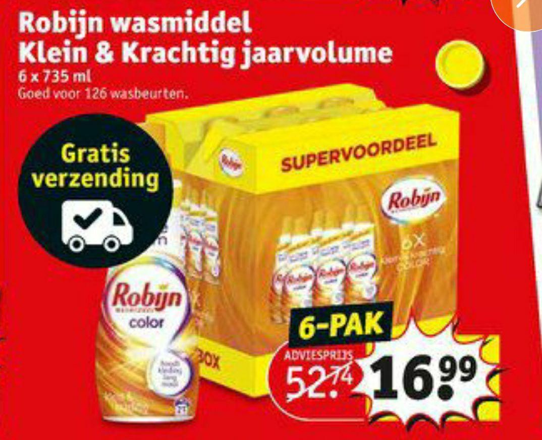 ROBIJN KLEIN & KRACHTIG COLOR WASMIDDEL JAARBOX 126 wasbeurten