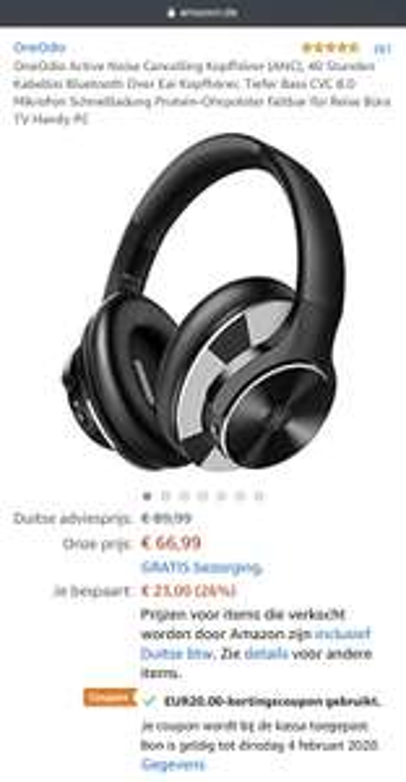 OneOdio A10-BK-EU incl Noise Canceling