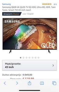 Samsung 43 inch QLED Smart-TV @ Amazon.de