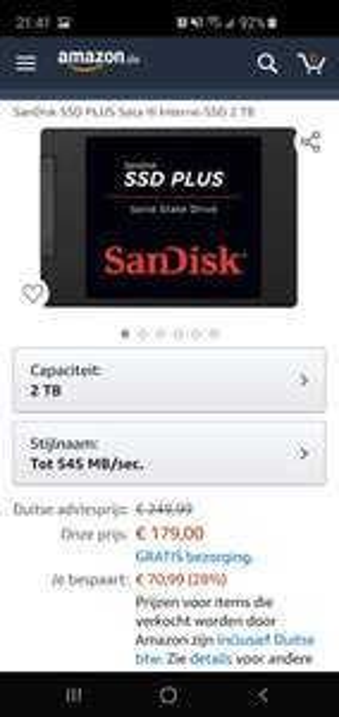 SanDisk SSD PLUS 2TB SATA III 2,5inch