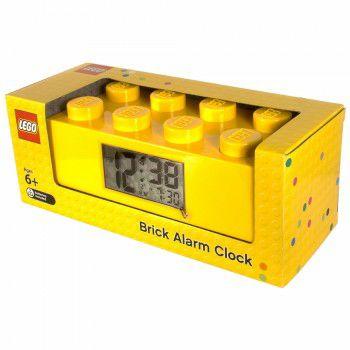 Digitale wekker in de vorm van een 2x4 LEGO Steen.