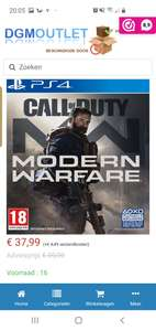 Call of duty modern warfare voor de playstation 4