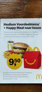 McDonald's medium voordeelmenu + happy meal (lokaal Breda)