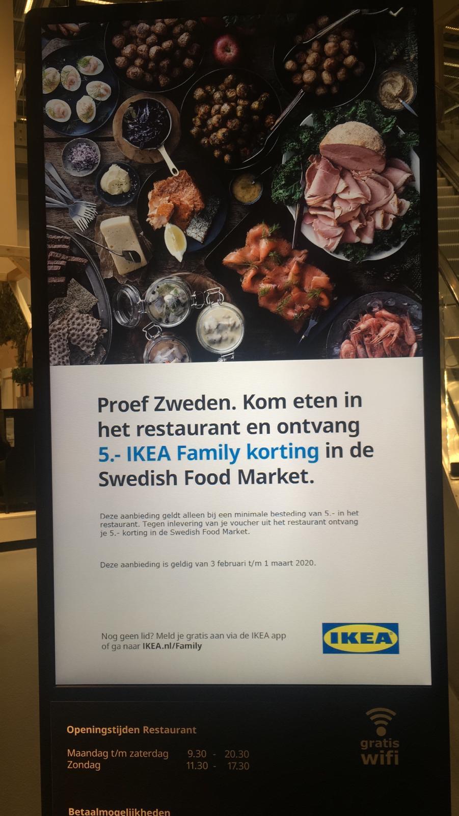 €5,- KORTING @ IKEA SWEDISH FOOD MARKET