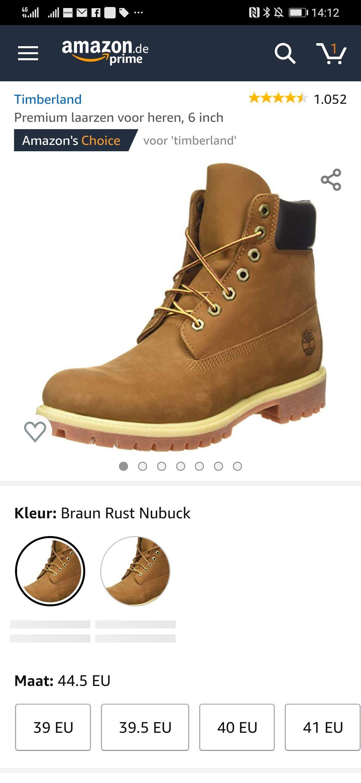 Weer vele maten Timberland 6 Inch Premium boots @amazon.de